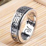 925 sterling silver <b>jewelry</b> <b>handmade</b> retro Thai silver personality ring male Tai Chi gossip ring