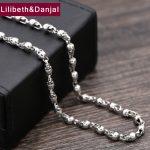 2017 925 <b>Sterling</b> Thai <b>silver</b> Vinage Necklace Men Punk Skull Pendant Long Chain Necklace women Gift Fine <b>Jewelry</b> N23