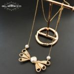 GLSEEVO Natural Fresh Water Baroque Pearl <b>Necklace</b> For Women Butterfly Pendant <b>Necklaces</b> Luxury Fine Jewellery Collares GN0053