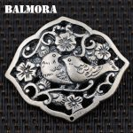 BALMORA 100% Real 990 Pure Silver <b>Jewelry</b> Retro Birds & Flowers Pendants for Necklaces Women <b>Accessories</b> Gifts Bijoux SY10715