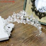 XIAONIANSHI Newest European Style Crystal Pearl Bridal Crown Baroque Tiara Gorgeous Rhinestone Wedding Hair Accessories <b>Jewelry</b>