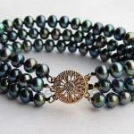 hot new fashion bracelet 2015 4 Row 3 Rows AA+ 7-8MM Black Akoya Cultured Pearl Bracelet 7.5″AAA beads <b>jewelry</b> <b>making</b>
