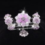3pcs S925 Sterling Silver Beads Pink Magnolia Flower Series Charms <b>Jewelry</b> Set Fit Bracelets Necklaces <b>Jewelry</b> <b>Making</b> Woman Gift