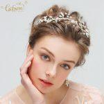 Bridal Bridesmaid Pearl Hairband Opal Beads Bridal Hair vine and Earring Sets Women Headpiece Tiara <b>Wedding</b> Dress