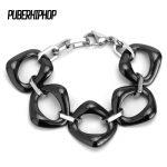 2018 Women Bangle Bracelet High Quality Modern Style Black White Women Ceramic Geometry Bracelets <b>Jewelry</b> Wristbands Band