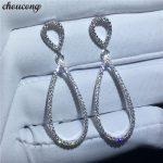 choucong Water Shape Drop earring AAAAA zircon cz 925 sterling silver Party <b>Wedding</b> Dangle Earrings for women fashion <b>jewelry</b>