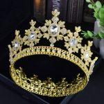Baroque <b>Wedding</b> Crown Bride Tiara Hair accessories Rhinestone Diadem Prom Dinner Queen King Crowns and Tiaras Head <b>Jewelry</b>