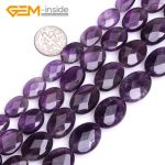 Oval Faceted Natural Genuine Purple Amethysts Gem Stone Beads For <b>Jewelry</b> <b>Making</b> Beads 15″ Strand Gem-inside DIY
