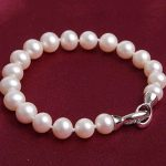 New South Sea White Pearl 9-10mm Round loose beads <b>making</b> <b>Jewelry</b> Bracelet 7.5-8″ BV339