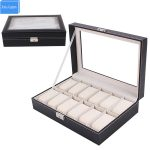 Special <b>Supply</b> Watch 12 Slots Display Watch Box <b>Jewelry</b> Case Organizer Holder Boxes Caja de Reloj organizador reloj