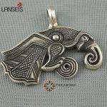 lanseis20pcs viking retro Raven of Odin Hugin <b>Jewelry</b> Viking Scandinavian Solid Pendant punk Necklace <b>handmade</b> <b>jewelry</b>