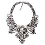 Crystal acrylic metal bib pendants choker necklaces fashion statement Classic <b>Antique</b> vintage <b>jewelry</b> wholesale white gray multi