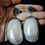 Irregular Big Shell Dangle Earrings Women Fashion Drop Earring with Black Rhinestone Womens Statement <b>Jewelry</b> <b>Wedding</b> Earrings