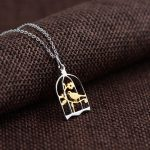 FNJ 925 Silver Pendant Necklaces for Women Bird Charm 45cm Chain Necklace Thai S925 Solid Silver <b>Jewelry</b> <b>Making</b>