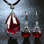 JIASHUNTAI Retro 100% 925 <b>Sterling</b> <b>Silver</b> <b>Jewelry</b> Sets Vintage Pendant Necklac Drop Earrings For Women Natural Stone