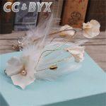 CC <b>Jewelry</b> Fairy Crown Cute Exquisite <b>Handmade</b> Flowers Bead Hairbands For Women Wedding Hair Bridal Accessories Fashion 7668