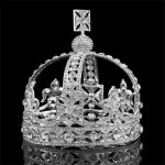 Baroque Royal Queen Tiara Crown Rhinestone Vintage King Diadem Bridal <b>Wedding</b> Tiaras and Crowns for Male Headdress Hair <b>jewelry</b>