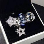 4pcs Fashion S925 Silver Five-pointed Star Series Charms Bead <b>Jewelry</b> Set Fit DIY Bracelet Necklaces <b>Jewelry</b> <b>Making</b> Woman Gift