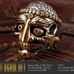 925 Sterling Silver Red Kapala Skull Ring OGRM Tibetan Buddhist New Fine <b>Handmade</b> Men's Cool <b>Jewelry</b> With Gift Box