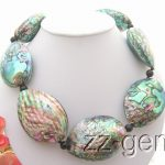 Natural 43x58mm Paua Abalone Shell Necklace