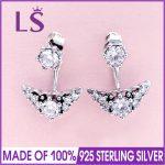 LS Hot Sale 925 Sterling Silver Fairytale Tiara Stud Earrings For Women Wedding Party Fine <b>Jewelry</b> <b>Making</b> Christmas Gift W