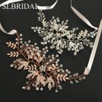 Gorgeous Rose Gold Crystal Rhinestone Natural Pearls Wedding Hair accessories Hairband Bridal Headband Bridesmaids <b>Jewelry</b> Women