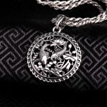 100% Real Pure Genuine 925 Sterling <b>Silver</b> Pendant S925 Solid Thai <b>Silver</b> Double Fish Pendants for <b>Necklace</b> Men Jewelry CP16