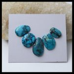 Wholesale 5 PCS Of Natural Gemstone Turquoise Cabochons,<b>necklace</b> pendant cabochons,21x12x4mm,14x9x4mm,5.7g