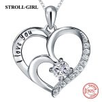 Hot sale silver 925 love heart shape diy chain pendant&necklace with Zirconia European fashion <b>jewelry</b> <b>making</b> for lover gifts