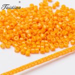 New Arrival Charms Delica Seed Beads for Women <b>Jewelry</b> Earrings Making Orange Color 10g/lot 1.6mm <b>Native</b> <b>American</b> Beadwork DB651