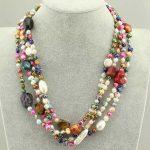 Pearl <b>Jewelry</b> Bridal Multi Genuine Freshwater Pearl Crystal Gem Necklace earrings Birthday Gift Real Pearl <b>Jewelry</b> <b>Handmade</b>
