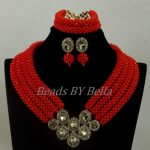 New Brooch Red Crystal Beads <b>Handmade</b> Bridal Fashion <b>Jewelry</b> Set 2017 ON SALE Dubai Wedding <b>Jewelry</b> Set Free Shipping ABK946