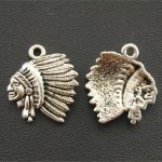 10 pcs Antique Silver Metal Alloy Indian Chief <b>Native</b> <b>American</b> Charms DIY <b>Jewelry</b> Findings Accessories 18x21mm A48
