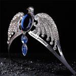 <b>Fashion</b> Vintage Silver Ravenclaw diadem Blue Crystal Ravenclaw College Lost Crown Prom Hair <b>Jewelry</b> Jarry Potter Horcrux