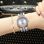CRRJU Women Watches Top Brand Luxury Women Fashion <b>Bracelet</b> Watch <b>Silver</b> Ladies Watch For Woman Wristwatch Diamond Clock Women
