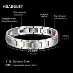 Meaeguet 12mm Magnetic Health Bracelets for Men Stainless Steel <b>Fashion</b> Germanium Magnetic Therapy <b>Jewelry</b> Pulsera bijoux