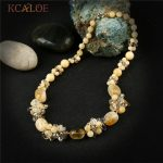KCALOE With Charm Natural Stone Chunky Necklace Fashion <b>Handmade</b> Knotted Austrian Crystal Statement Necklaces Women <b>Jewelry</b>