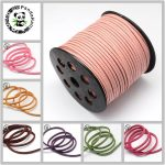 Flat Faux Suede Cord 3mm Bracelets Necklace diy Accessories for <b>Jewelry</b> <b>Making</b> About 90m/roll