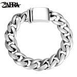 ZABRA Solid 925 <b>Sterling</b> <b>Silver</b> Bracelets Man High Polish Link Chain Bracelet For Men Vintage Punk <b>Jewelry</b> For Male