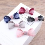 Free Shipping 50PCS/Lot 118*38mm <b>Handmade</b> Floral Chiffon Fabric Ribbon Bow Fit Girls Hair <b>Jewelry</b> Garment Clips Shoes Headband