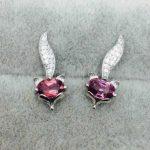 natural Magnesium aluminum garnet stud <b>earrings</b> s925 <b>silver</b> natural gemstone <b>earrings</b> for women party fine fox <b>Earrings</b> jewelry