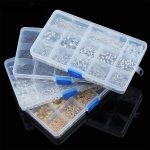 SAUVOO 1 Box 12 Slot <b>Jewelry</b> Findings Boxes Case Lobster Clasps End Caps Spacer Beads Extender Chain Pins for DIY <b>Jewelry</b> <b>Making</b>