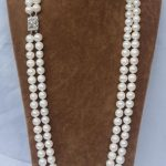 Wholesale price 16new ^^^^ CHARMING NATURAL 2 ROW 9-10MM WHITE AAA++ AKOYA SOUTH SEA PEARL <b>NECKLACE</b>