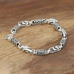 Wholesale manufacturers S925 Mens handmade sterling <b>silver</b> jewelry <b>silver</b> <b>silver</b> dragon square bamboo <b>bracelet</b>