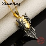 100% 925 sterling silver diy design love heart wing pendant chain necklace European fashion <b>jewelry</b> <b>making</b> for women gifts