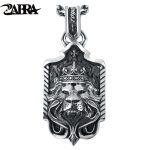 ZABRA Solid 925 <b>Sterling</b> <b>Silver</b> Lion King Crown Big Pendant Necklace for Mens Thai <b>Silver</b> Handmade Vintage Punk Rock Men <b>Jewelry</b>