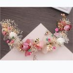 <b>Handmade</b> Natural Flower Flying Bee Vine Bridal Tiara Crown Bride Headpiece Women Hair Ornaments Wedding Hair <b>Jewelry</b> Accessories
