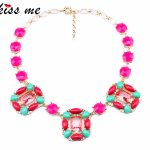 New Styles Fashion Necklaces for Women KISS ME Steampunk <b>Jewelry</b> Boho <b>Accessories</b> Square Shiny Pendant Necklace