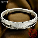 999 <b>Silver</b> Fish <b>Bracelets</b> Bangles Open Adjustable <b>Bracelet</b> 38g <b>Silver</b> Flower <b>Bracelet</b> Jewelry