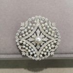 natural small pearl brooch pierced china pattern 925 <b>sterling</b> <b>silver</b> with cubic zircon fashion women <b>jewelry</b>